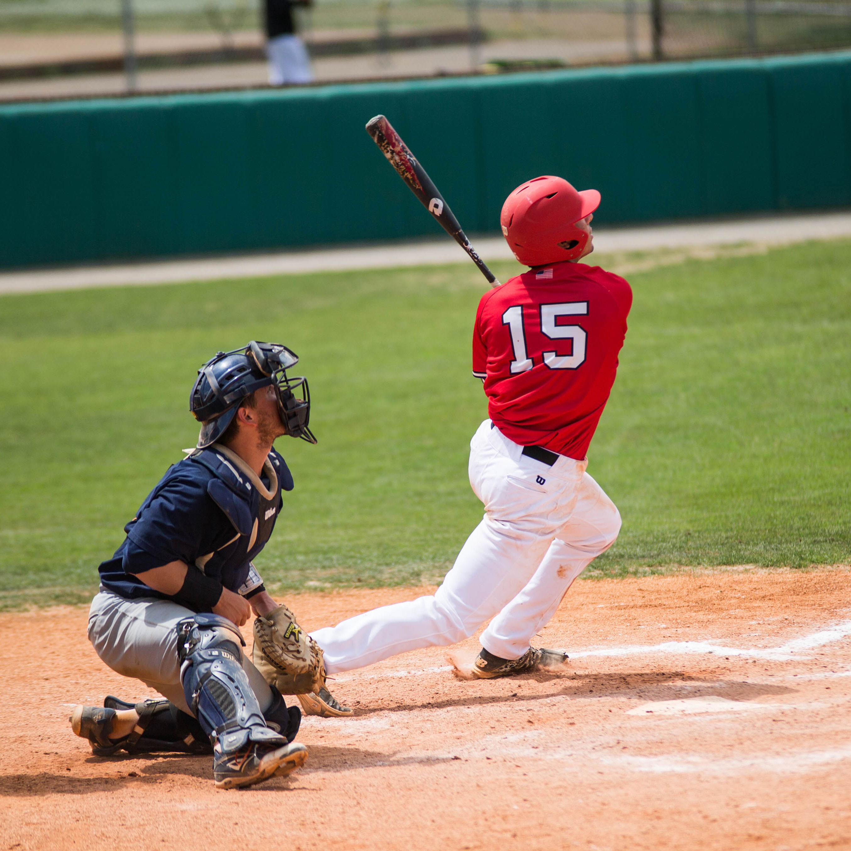APSU baseball player hitting the ball