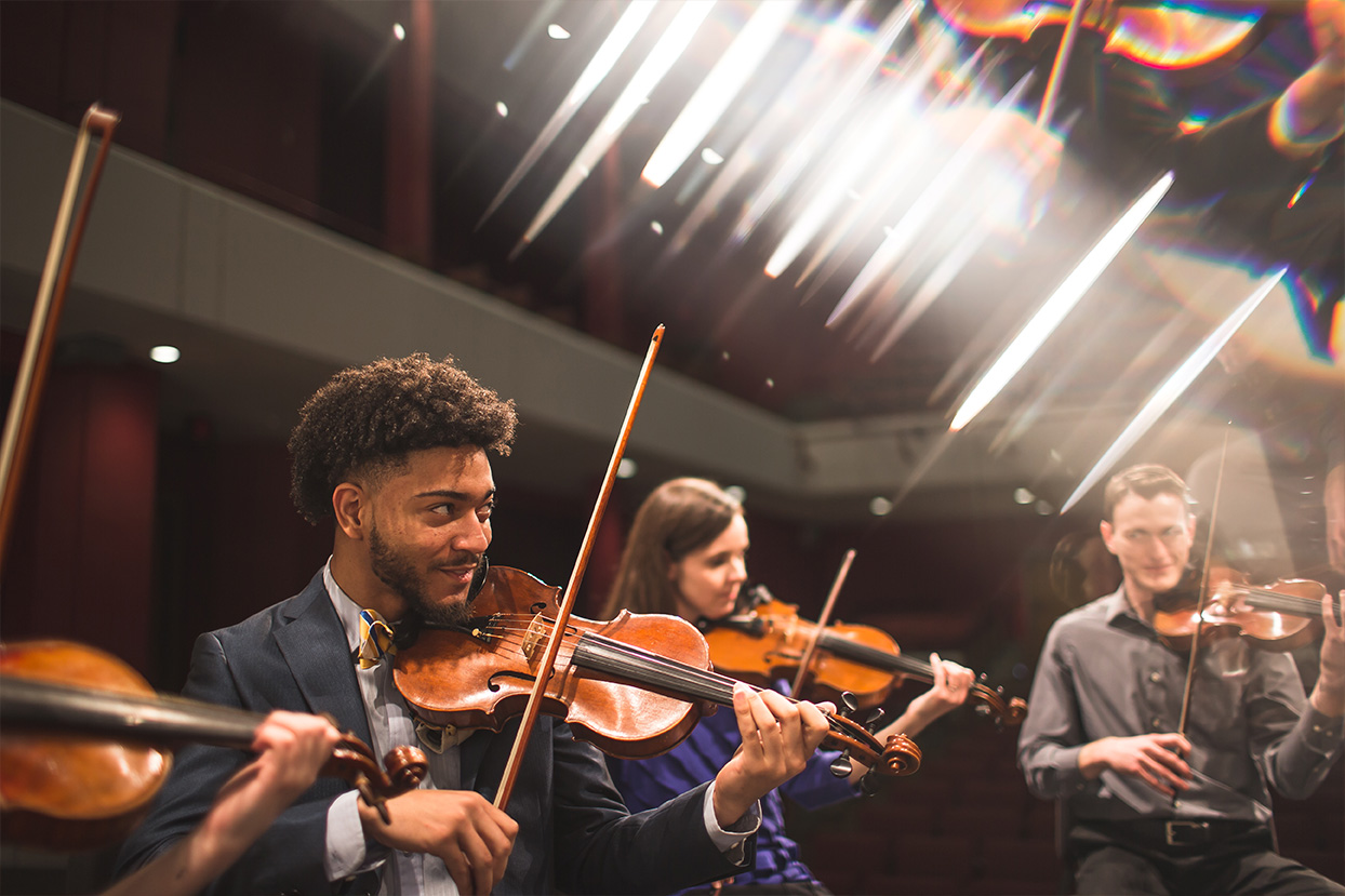 Music students perform in mabry concert hall