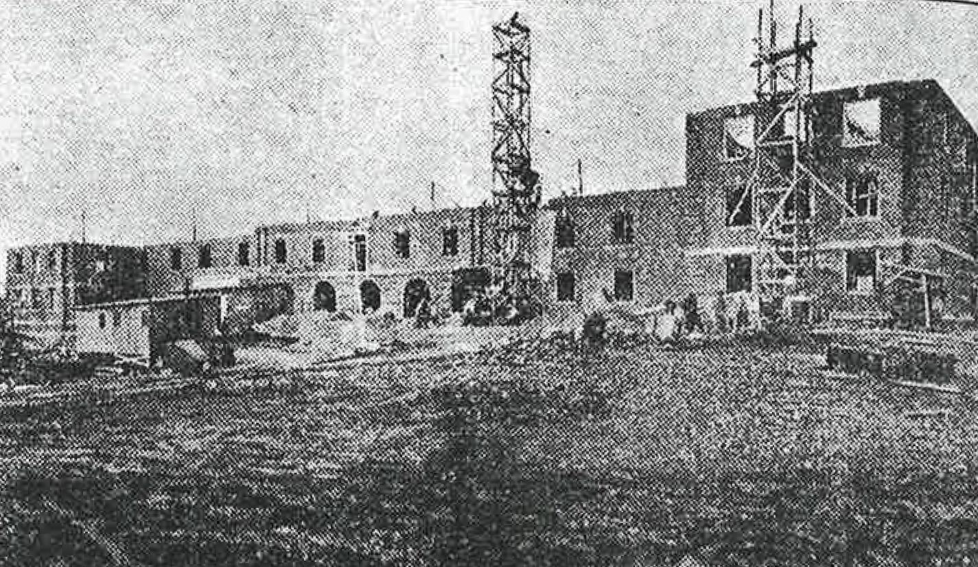 Harned Hall, originally a women's dormitory, is the oldest building still standing on campus. Construction was complete in 1931.
