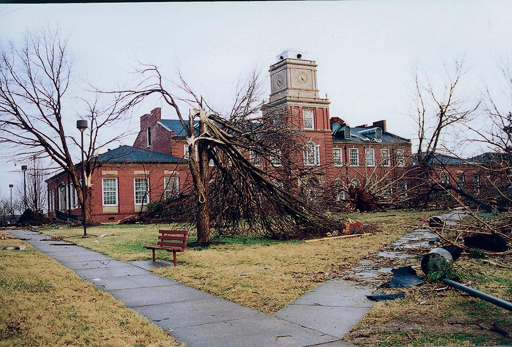 The Browning, pictured, Clement, Harned, Harvill and Archwood buildings were badly damaged during a Jan. 22, 1999, tornado that ripped through Clarksville.