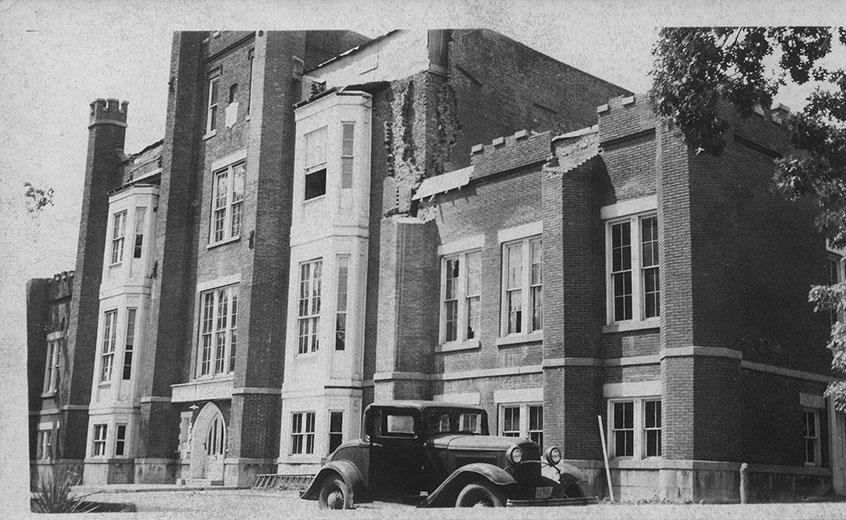 The Castle Building served campus from 1850 until it collapsed in 1946.