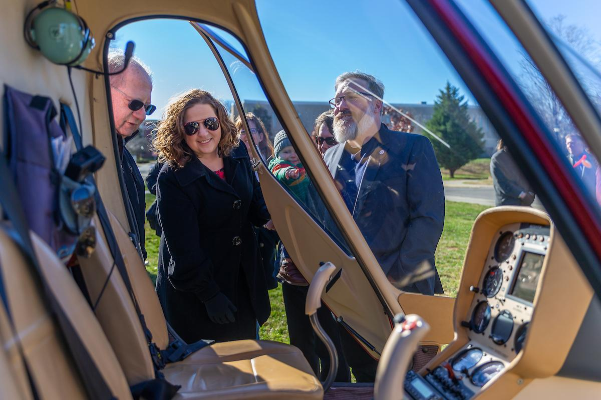 Austin Peay State University officials on Wednesday, Jan. 9, unveiled the first of three helicopters in its new rotor-wing fleet. The helicopters bolster the state's first and only rotorcraft program attached to a bachelor's degree.