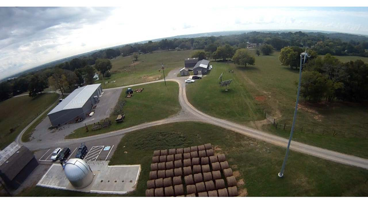 View from drone of APSU farm