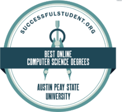 "A badge reading ""Best Online Computer Science Degrees: Austin Peay State Univesity"""
