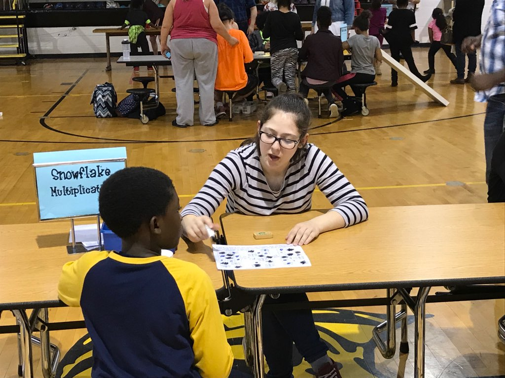 APSU students assist at Burt Elementary for Math and Literacy Night