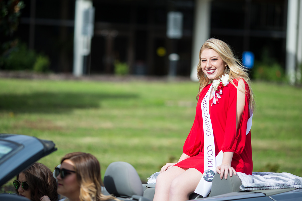 Alexis Larkin rides in homecoming parade