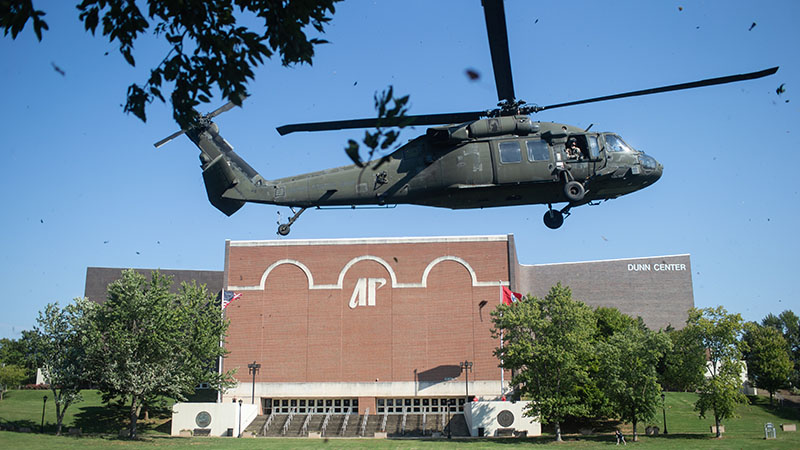 Blackhawks land on campus