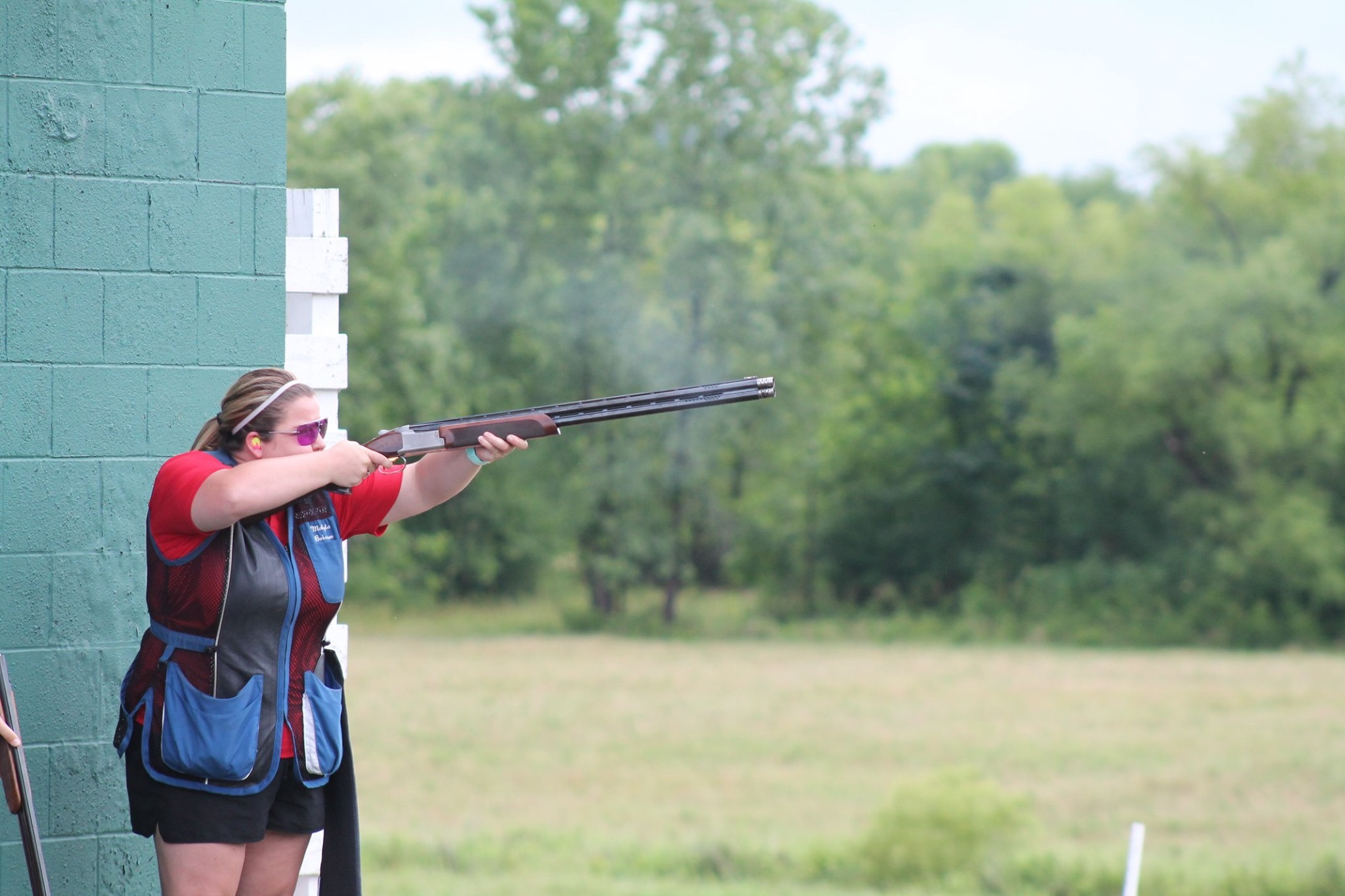 Makayla Boisseau competes at clay target shooting competition
