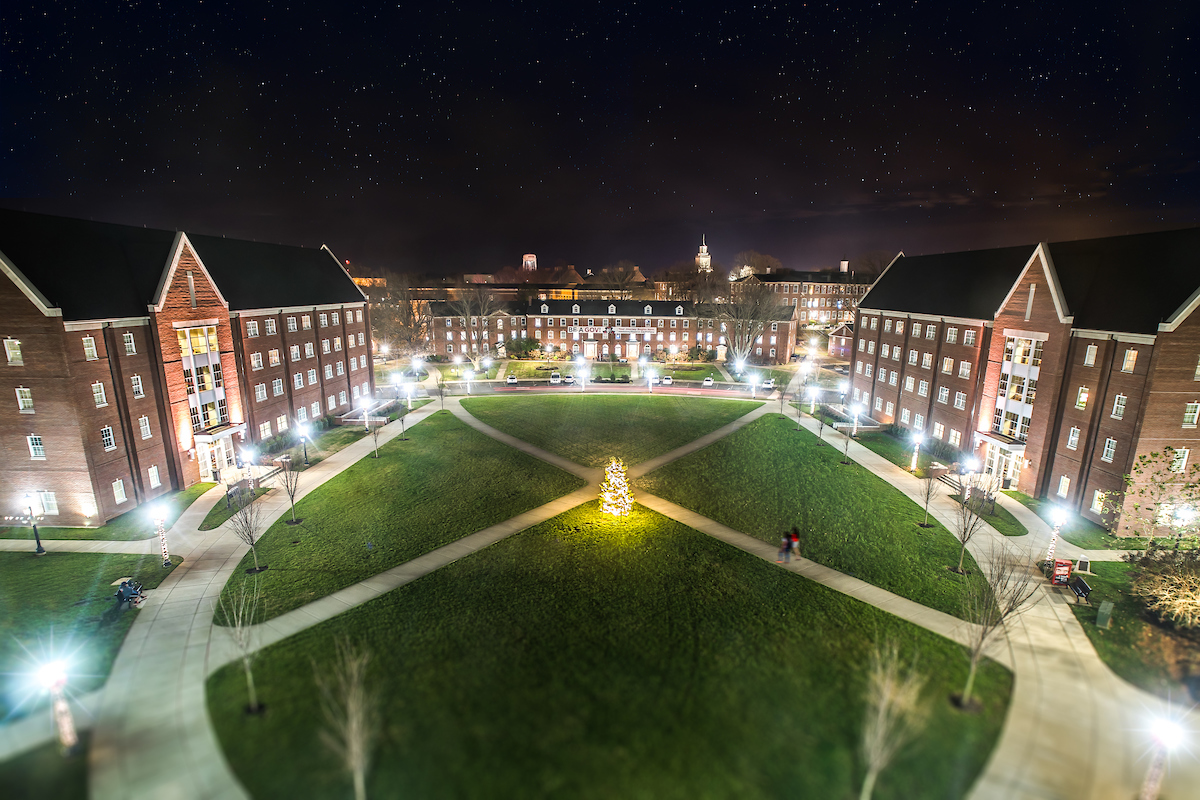 The Quad during the holidays