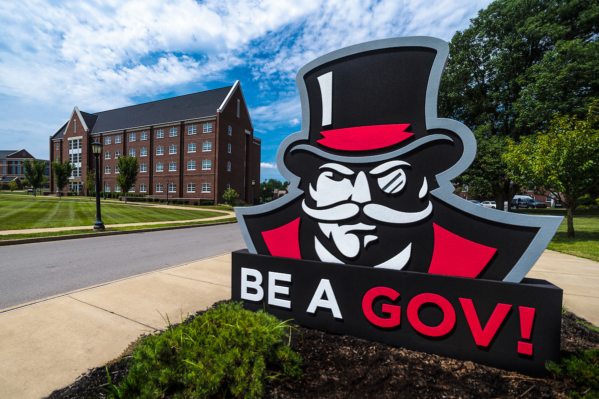 Be A Gov logo on campus