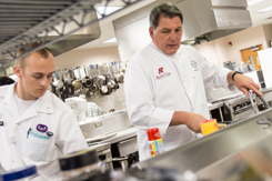 Culinary students work in the Fort Campbell kitchen