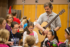 Music students teach class to elementary students