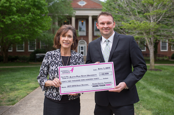 APSU award Komen grant