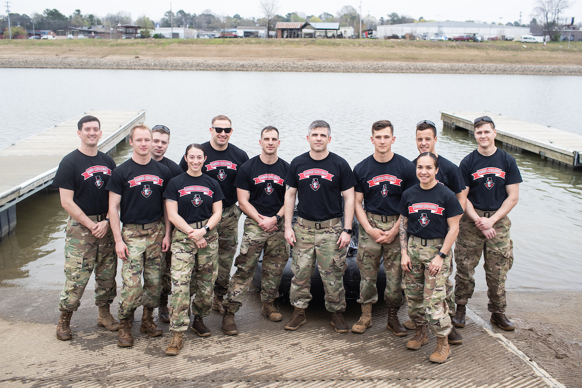 Last year's Sandhurst competition team.