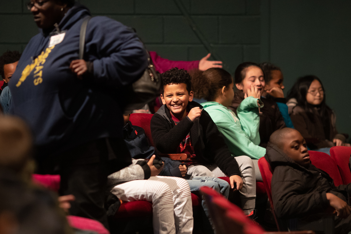 "Eighty-four Kenndy's Kid students from Barkers Mill Elementary attended ""Charlotte's Web"" at the Roxy Regional Theatre. CECA paid for the tickets and transportation."