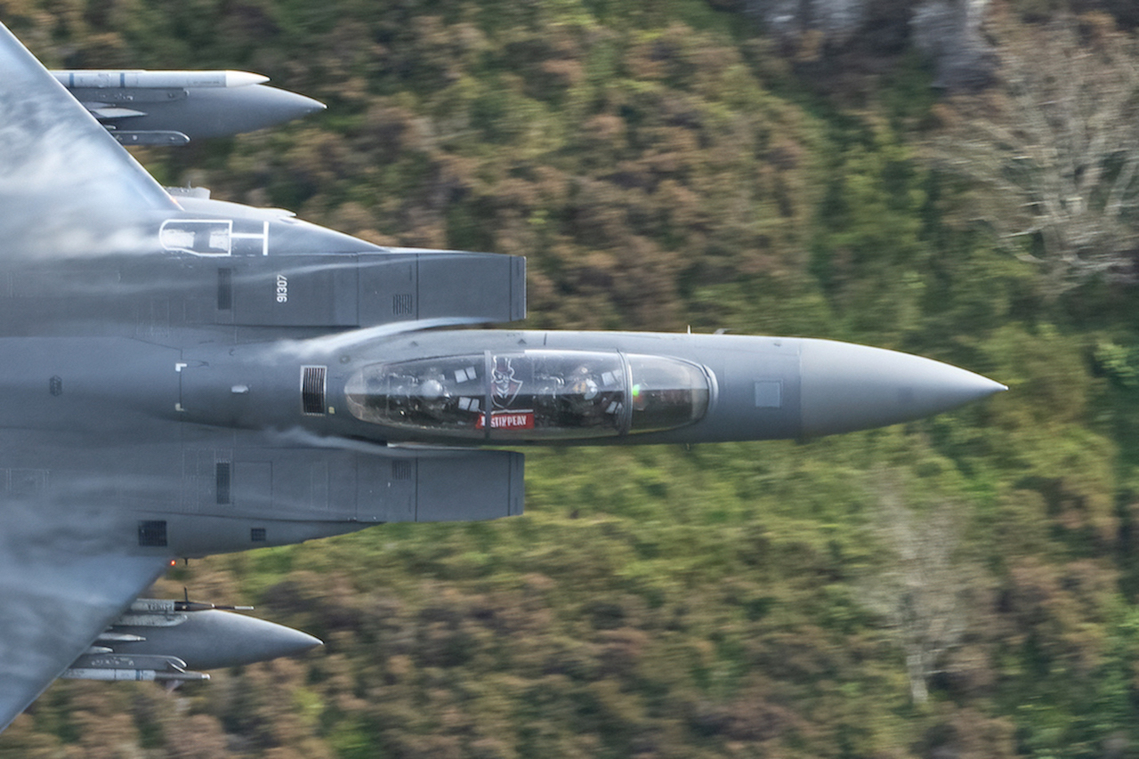 You have to see this photo: Austin Peay flag flies in fighter jet navigating Britain's famed Mach Loop