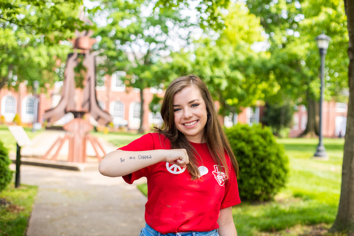 Call to 'Be the Change' endures for APSU student and her charity despite coronavirus
