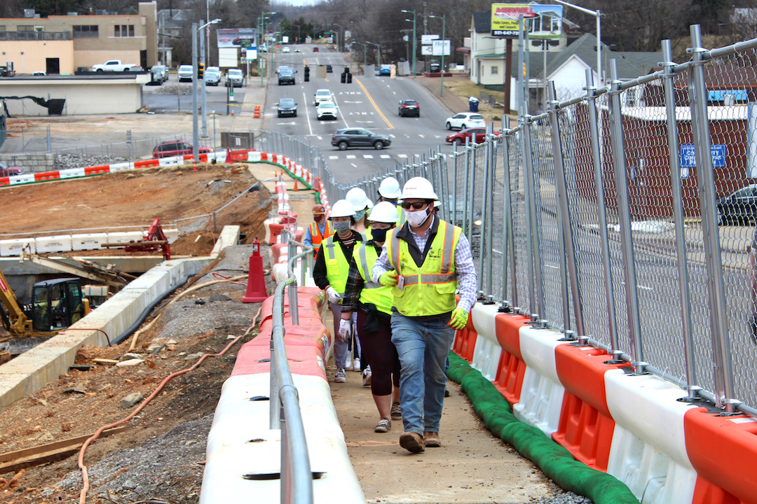 MPEC construction site tour gives APSU geology students in-person look at future careers