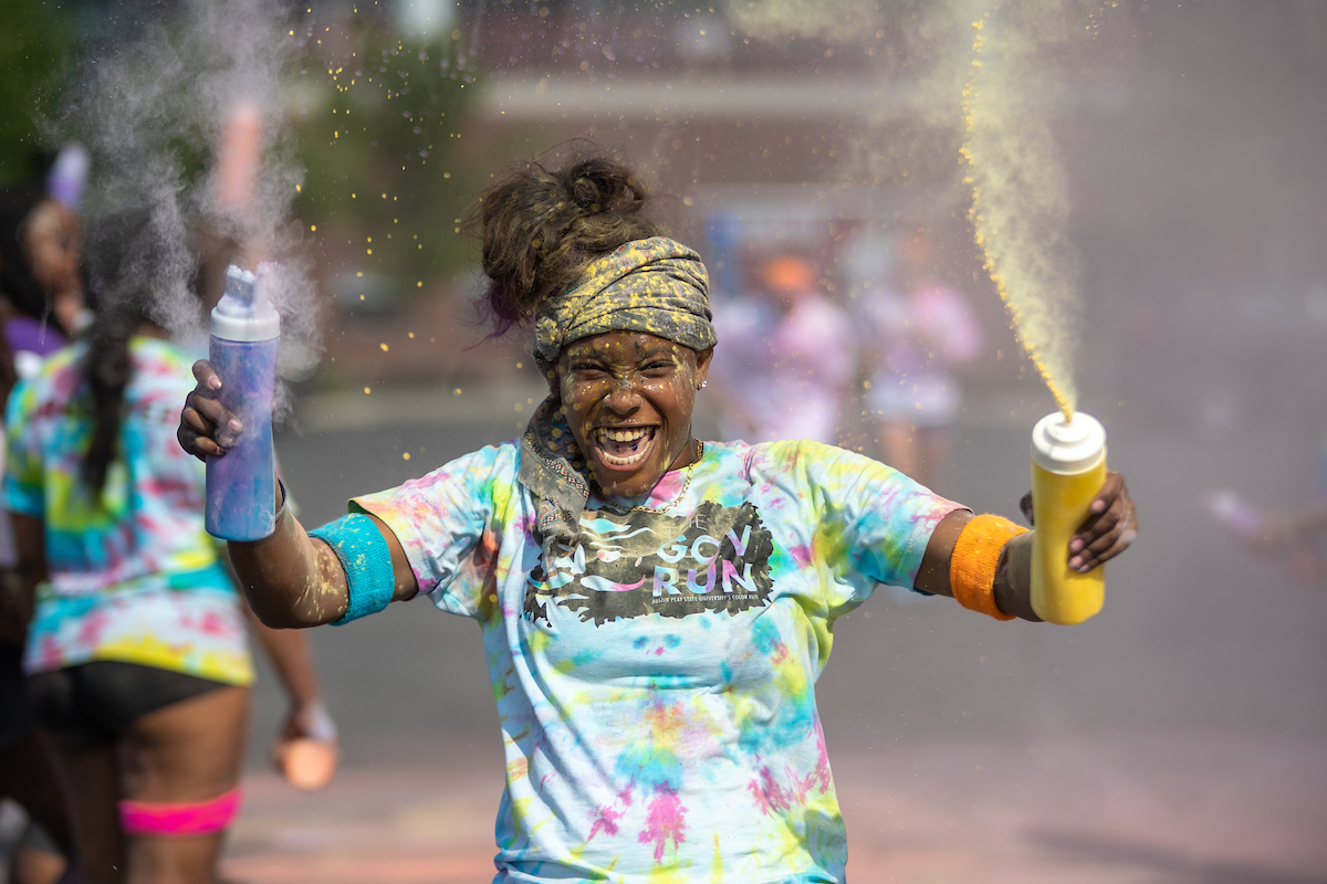 The Gov Run is a 3 p.m. color run Sunday, Aug. 25, at the intramural field on campus.
