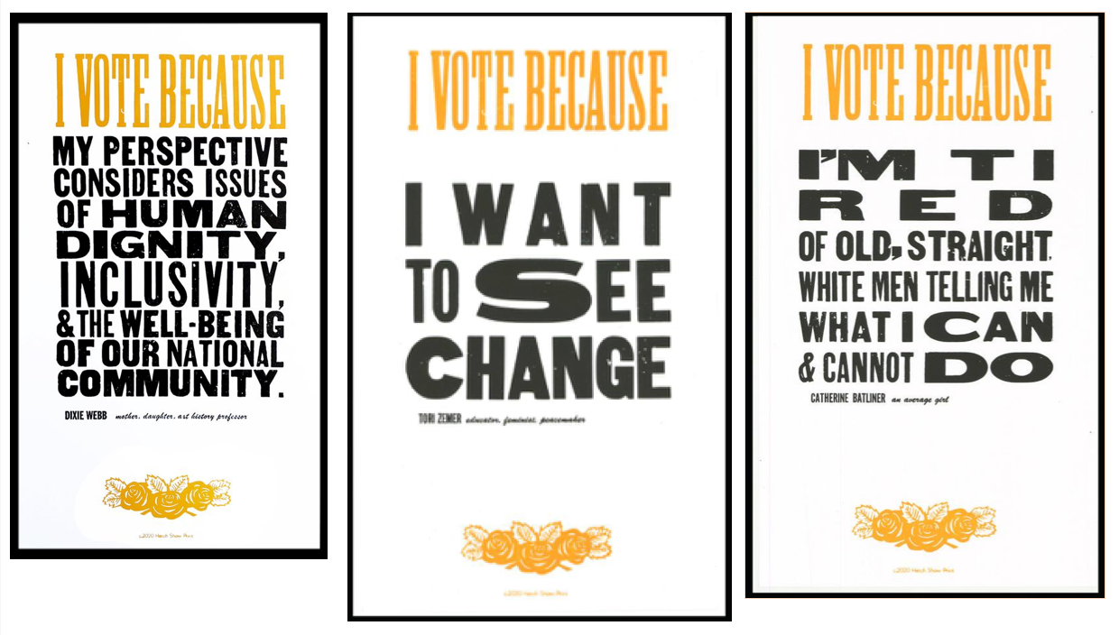 Retired Austin Peay professor works with Hatch Show Print to celebrate 'I Vote Because …'