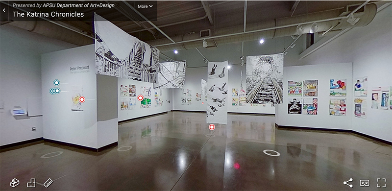 Take a virtual tour 'The Katrina Chronicles' led by the artist, Peter Precourt