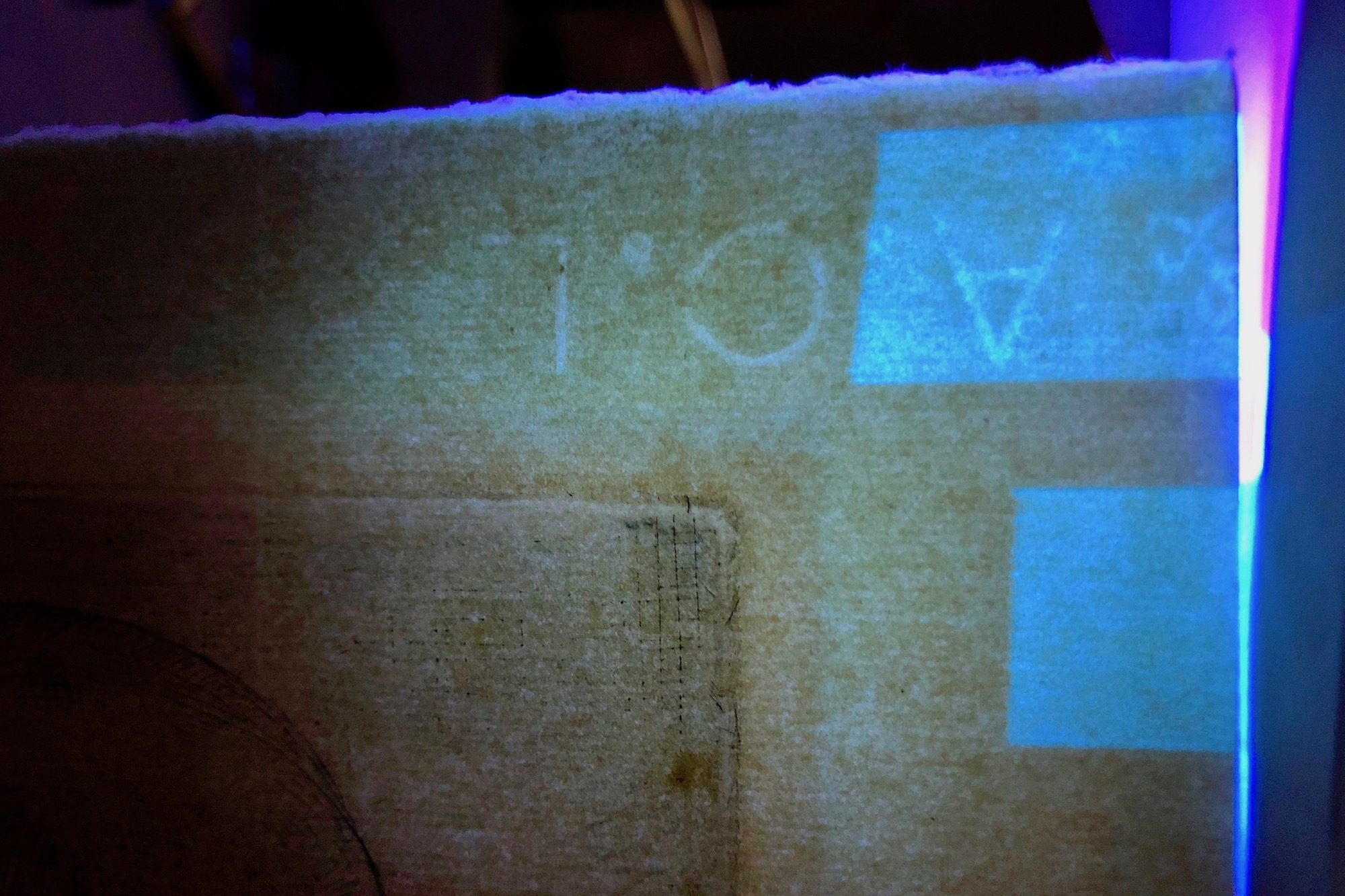 Macon St. Hilaire and Tolleson used ultraviolet light to examine the watermarks of the paper used for the prints.