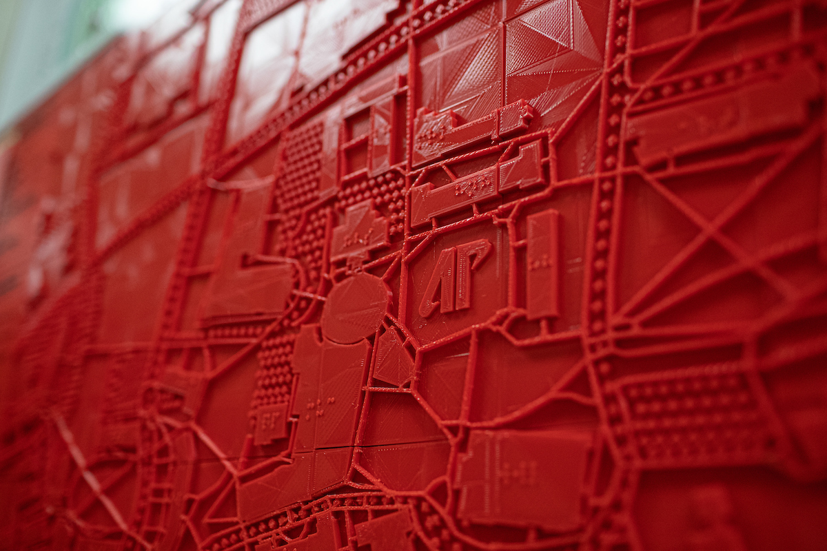 GIS Center student creates 3D-printed tactile campus map for Disability Services