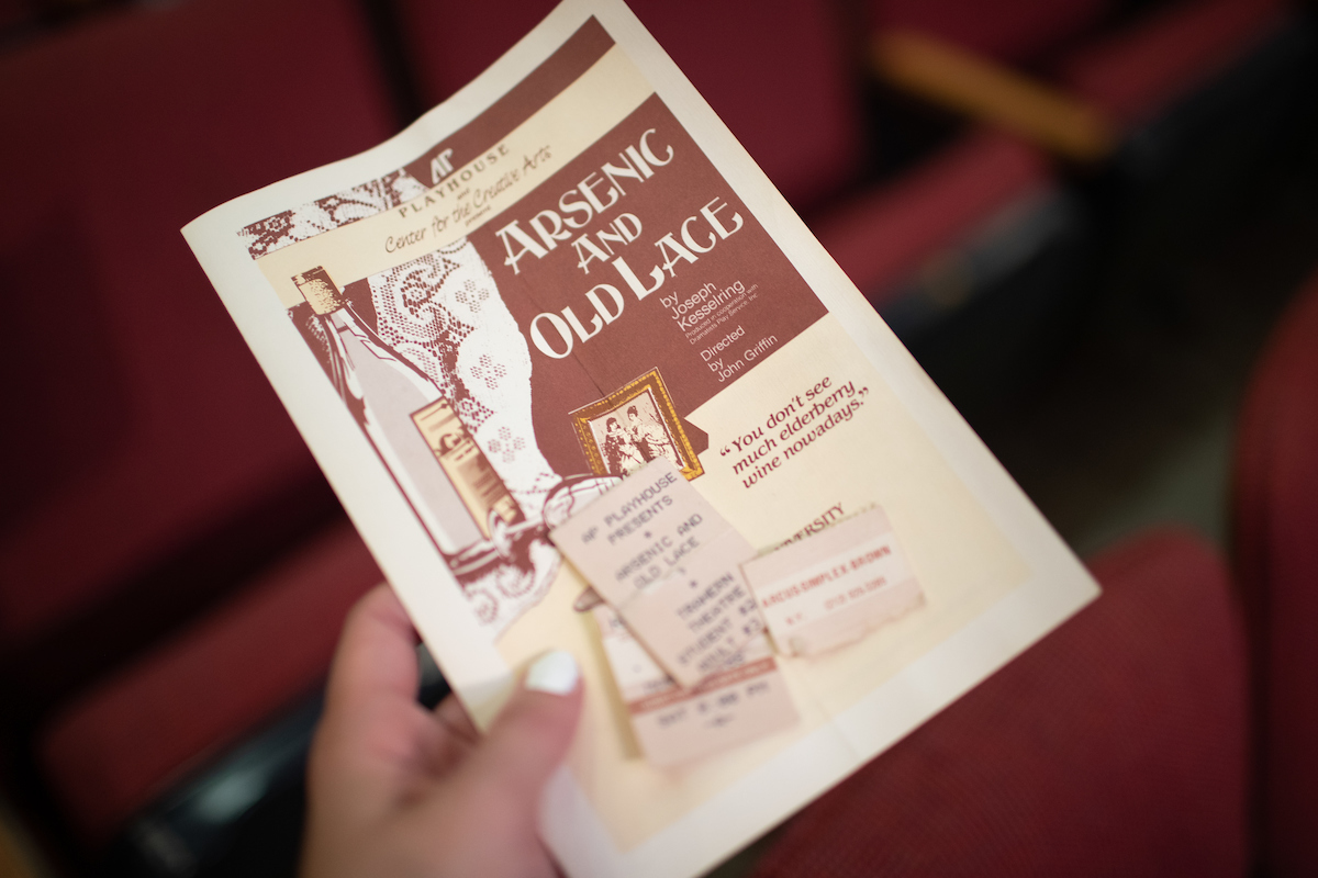 31-year-old playbill falls out of reclaimed Trahern Theatre seat