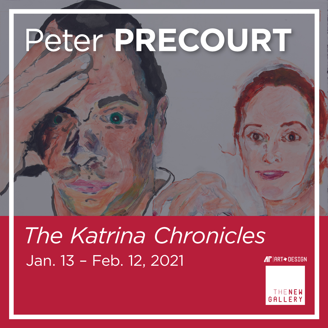 "The New Gallery, with support from The Center of Excellence for the Creative Arts and the Department of Art + Design, is pleased to present The Katrina Chronicles, a new exhibition by artist Peter Precourt, to continue an exciting 2020-2021 exhibition season.  ""The Katrina Chronicles is a densely narrative exhibition where artist/storyteller Peter Precourt presents a series of personal stories as a way of dealing with his experience of losing most of his possessions and artwork in the devastation that Hurricane Katrina brought to the Gulf Coast of Mississippi,"" said Michael Dickins, curator and director of The New Gallery. ""The Chronicles are told in a form that hovers somewhere between a graphic novel, a journal entry, a painting, a memoir and a flippant conversation. With this work, Precourt hopes to make images that openly engage the imperfection of memory, the possibility of change and the restorative power of storytelling.""  In Precourt's words, ""The most depressing visual feature of the Mississippi coast, after the immense destruction, was the endless amount of debris. Everything was leveled and spread across the coastal landscape: nails, drywall, toilets, tires, forks, needles …  everything that was once in a house or a garage was now scattered all over the ground. Over the past six years, I have struggled to come to terms with a way to tell my experience, which is a single story amongst thousands of stories in the aftermath of Katrina. Ultimately, it made sense to me to tell The Katrina Chronicles in a form that embraces the stepchild nature of Mississippi and the leveling power of Katrina.""  Dickins added, ""Since arriving at APSU, I have been interested in curating and exhibiting artists whose artwork is a direct extension of their identity and personal experiences. This exhibition is different in that it is extremely autobiographical, revealing and distinctively linear. The Katrina Chronicles is unpretentiously presented and, through Precourt's vulnerability and humor, profoundly relatable.""  About the artist  Precourt lives and works in Winthrop, Maine, with wife Jane and teenage children Charlotte and Will. He is an interdisciplinary artist, curator and professor of art at the University of Maine at Augusta where he coordinates the Art Department. He received his MFA in Painting from the University of Houston in 2000 and later served as an affiliate artist there. In 2005-2006, he served as head of the painting department at William Carey University in Gulfport, Mississippi. In 2007, he conducted a four-part lecture series at the Contemporary Arts Museum Houston, concerning art since 1960.  Precourt has an active studio and social art practice. He has been a guest lecturer at the University of Southern Maine, the University of Massachusetts Dartmouth, Reed College, Fort Lewis College, San Jacinto College, Lincoln Memorial University, Kennesaw State University, ArtHouse Center for Contemporary Art, New York University and the University of Lisbon in Portugal. His work has been exhibited in Austin, Texas; Cincinnati, Ohio; Dallas, Texas; Gyeonggi-do, Korea; Houston; Los Angeles; New Orleans, Louisiana; Nashville; New York and Portland, Oregon.  To learn more about Peter Precourt, visit his www.peterprecourt.com.  Exhibition, walk-through, gallery tour  The exhibit opens Tuesday, Jan. 19, at The New Gallery, located in the Art + Design building on the campus of Austin Peay State University, and runs through Feb. 12. A 360-degree virtual walk-through will accompany this exhibition for those who wish to view the work from the safety of their homes. The walkthrough can be found on The New Gallery's webpage and can be accessed via www.apsu.edu/art-design. The virtual walkthrough will be integrated with an ""artist-led"" gallery tour.  An artist lecture with Peter Precourt will be held at 6 p.m. Feb. 3 via Zoom. Register here for this free talk.  Hours for The New Gallery are 10 a.m.-3 p.m. Tuesday-Thursday, closed on weekends and holidays, and follows the university's academic calendar. To maintain social distance measures, a 15-person limit rule will be in effect.  For more information on this exhibition, which is free and open to the public, contact Dickins at dickinsm@apsu.edu."