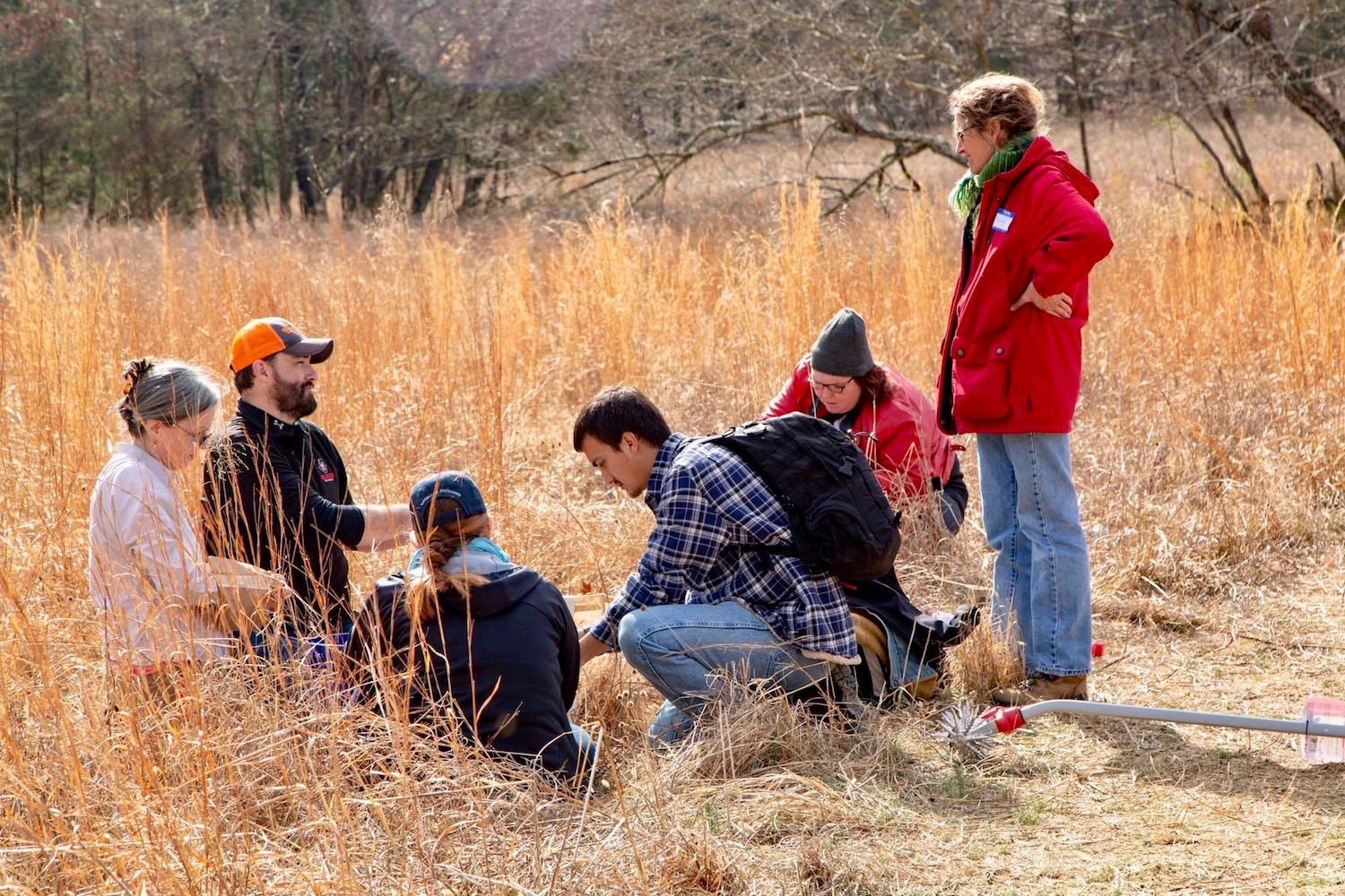 Fifty-two volunteers converge at Dunbar Cave State Park for native grasslands