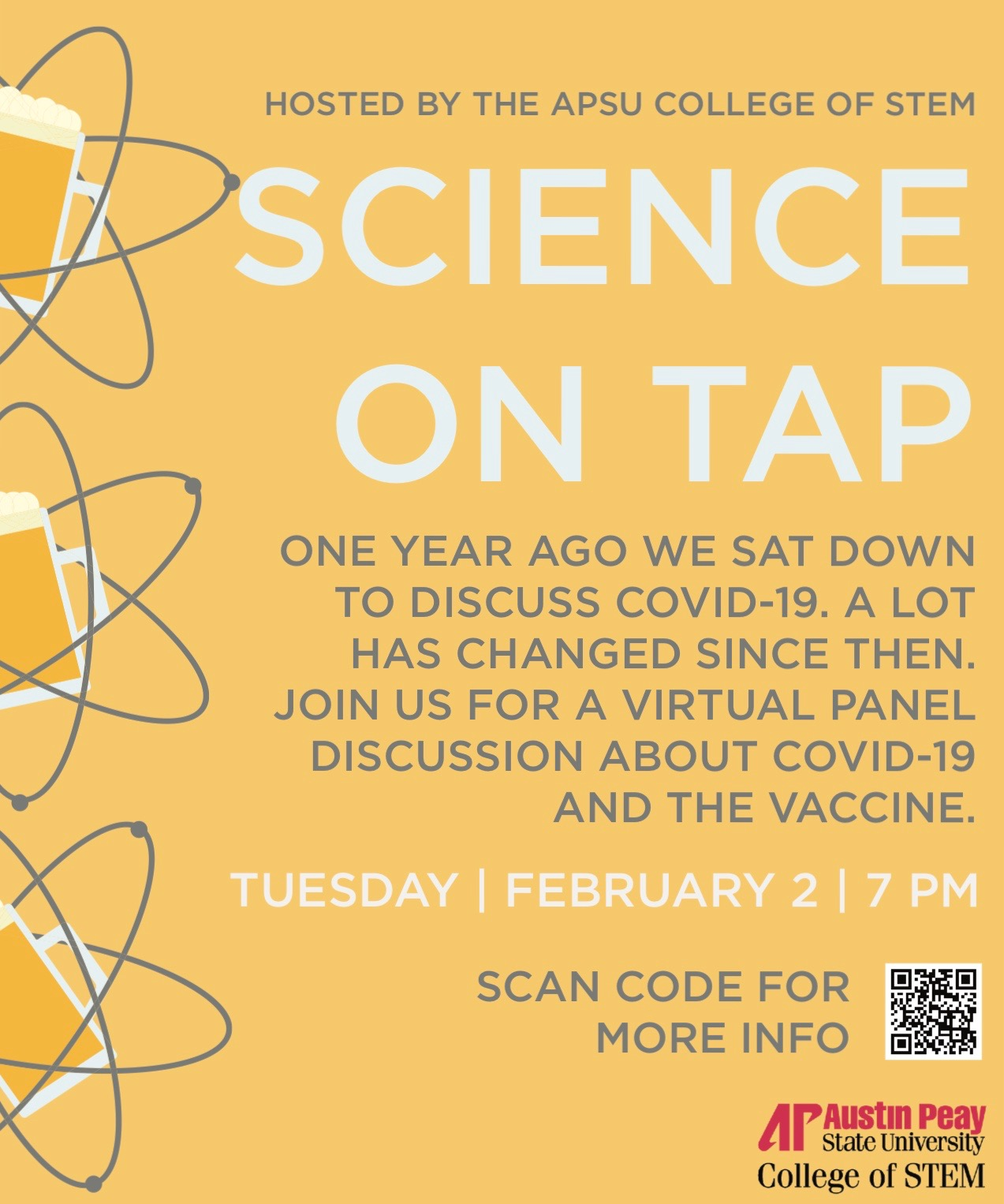 Science on Tap to return virtually for special panel discussion about COVID-19, vaccines