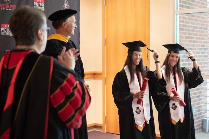 Tennis twins earn special graduation