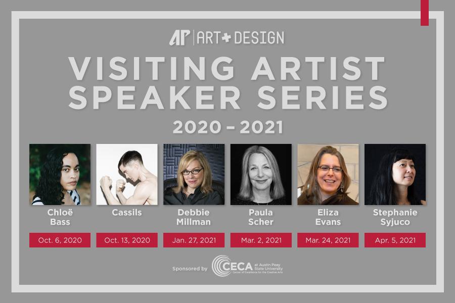 APSU Department of Art + Design announces 2020-21 visiting artist schedule