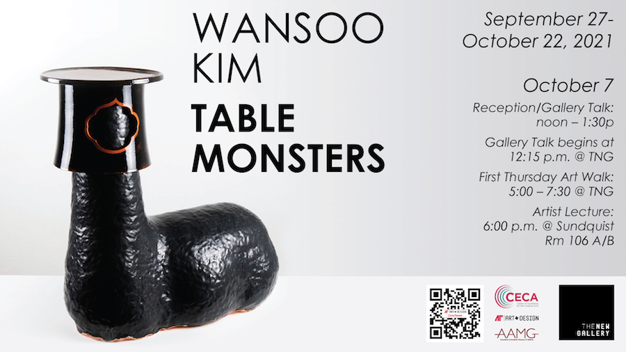Table monsters invade The New Gallery at Austin Peay