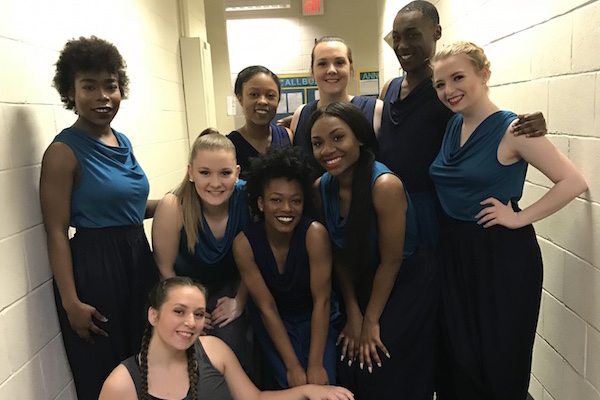 Dancers backstage at ACDA