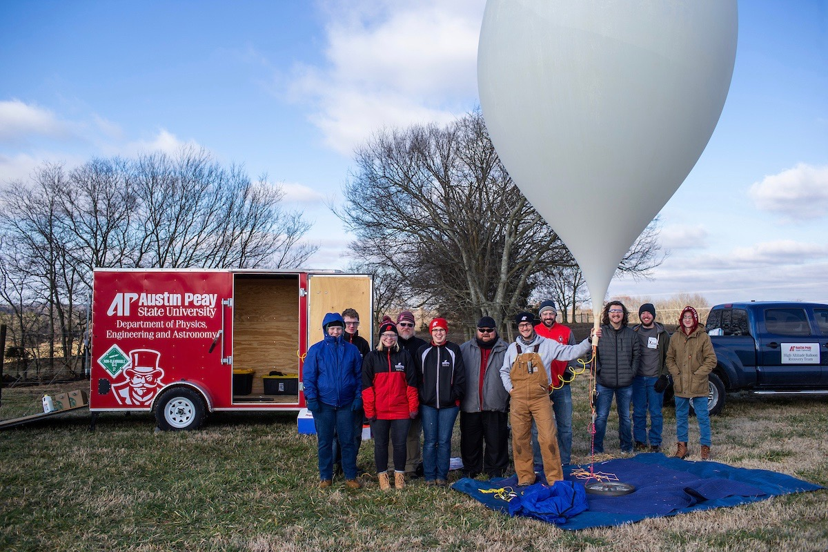 The team launched the balloon at 9:52 a.m. Jan. 24 from the Austin Peay Farm and Environmental Education Center on Pickens Road in Clarksville.