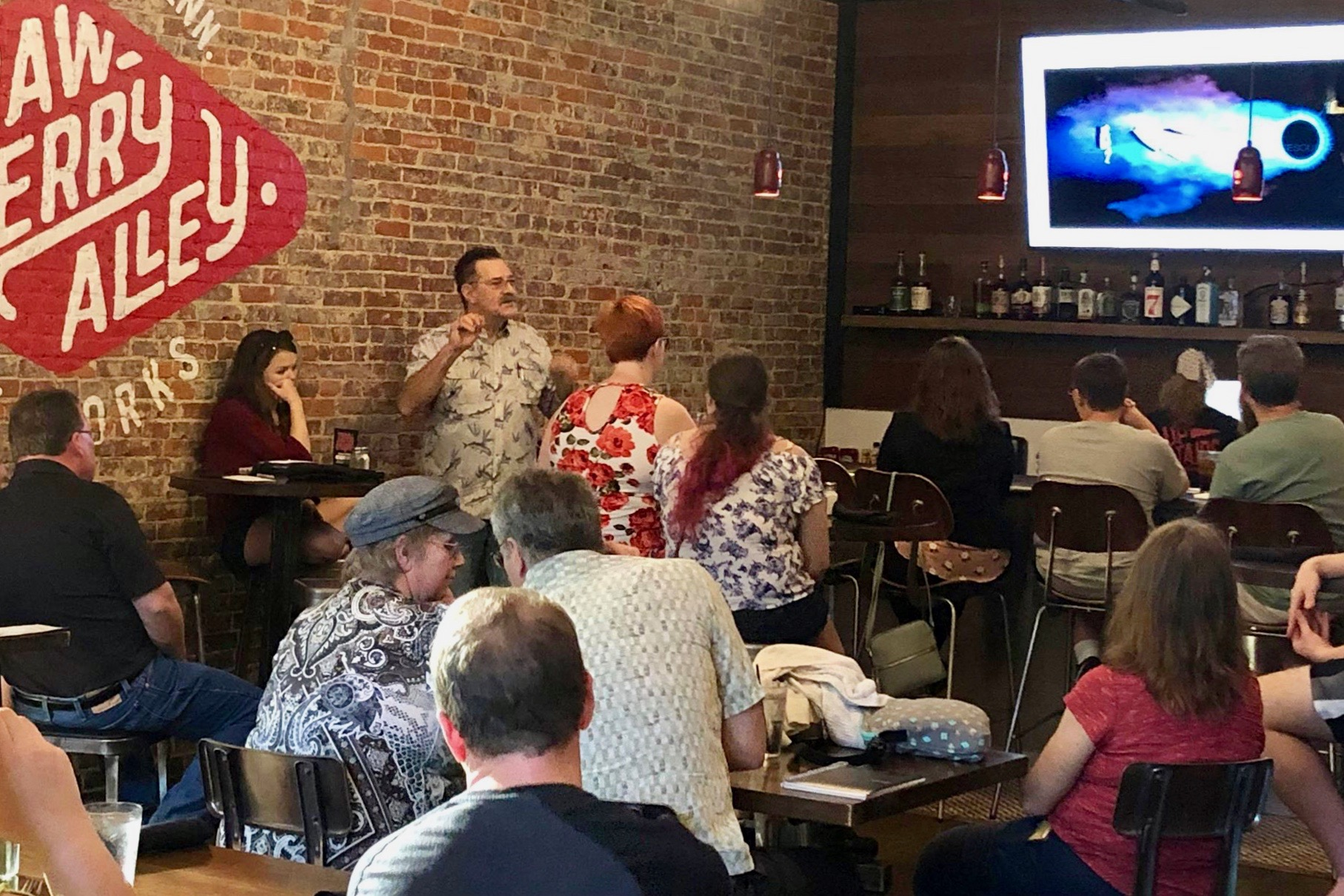 Austin Peay State University kicked off its inaugural Science on Tap – a monthly lecture series that unites two great things, science and local brews – at Strawberry Alley Ale Works Tuesday, Sept. 3.