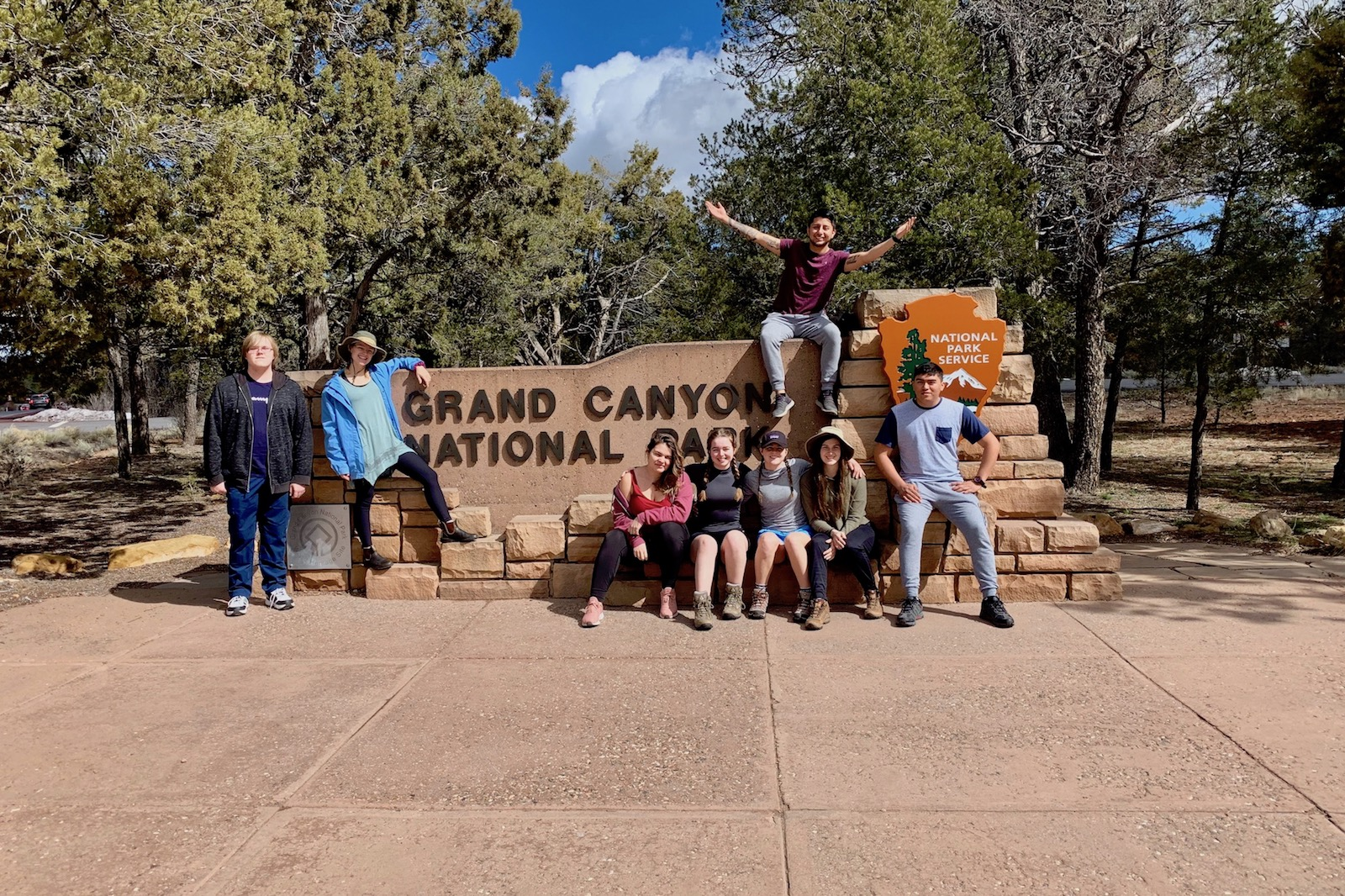 Austin Peay students tour the West during Spring Break with Govs Outdoors