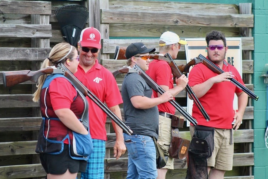 Clay Target club waits before competing at shooting competition