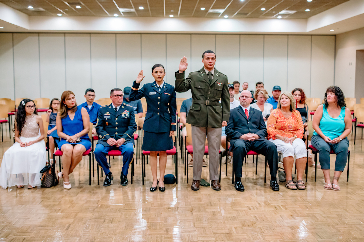 Governors Guard celebrates two newly commissioned officers during ROTC's 50th year at Austin Peay