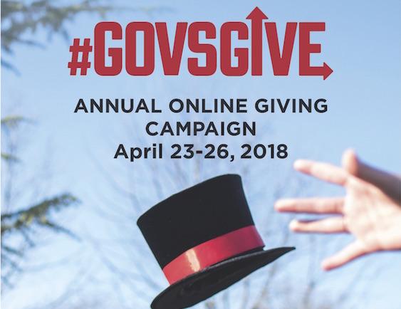 The #GovsGive logo