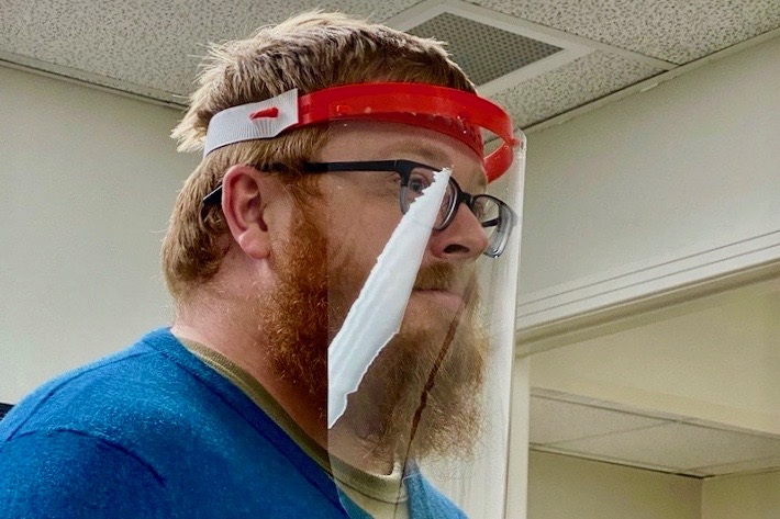 Meet the APSU student who built a face shield prototype within hours of the governor's request