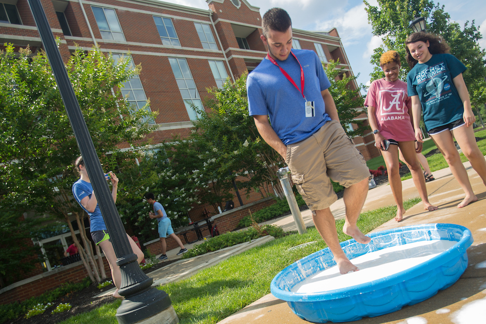 Gov School students walk on water at Austin Peay