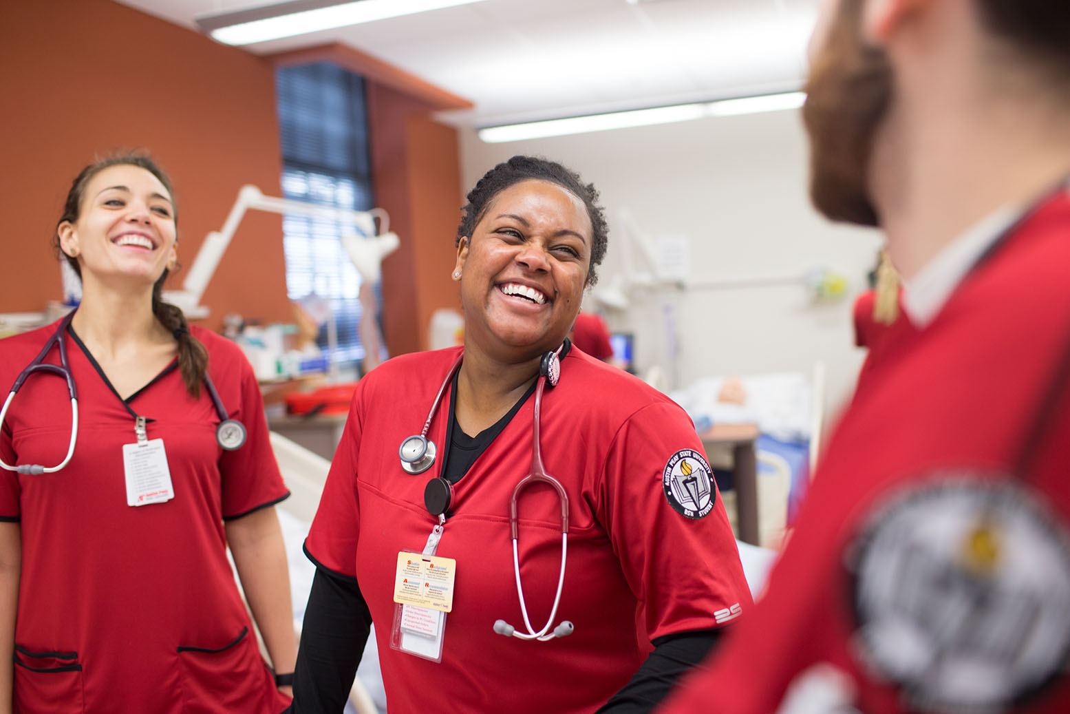 Nursing students in McCord lab