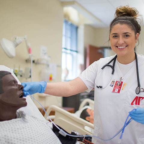 Nursing student working in McCord
