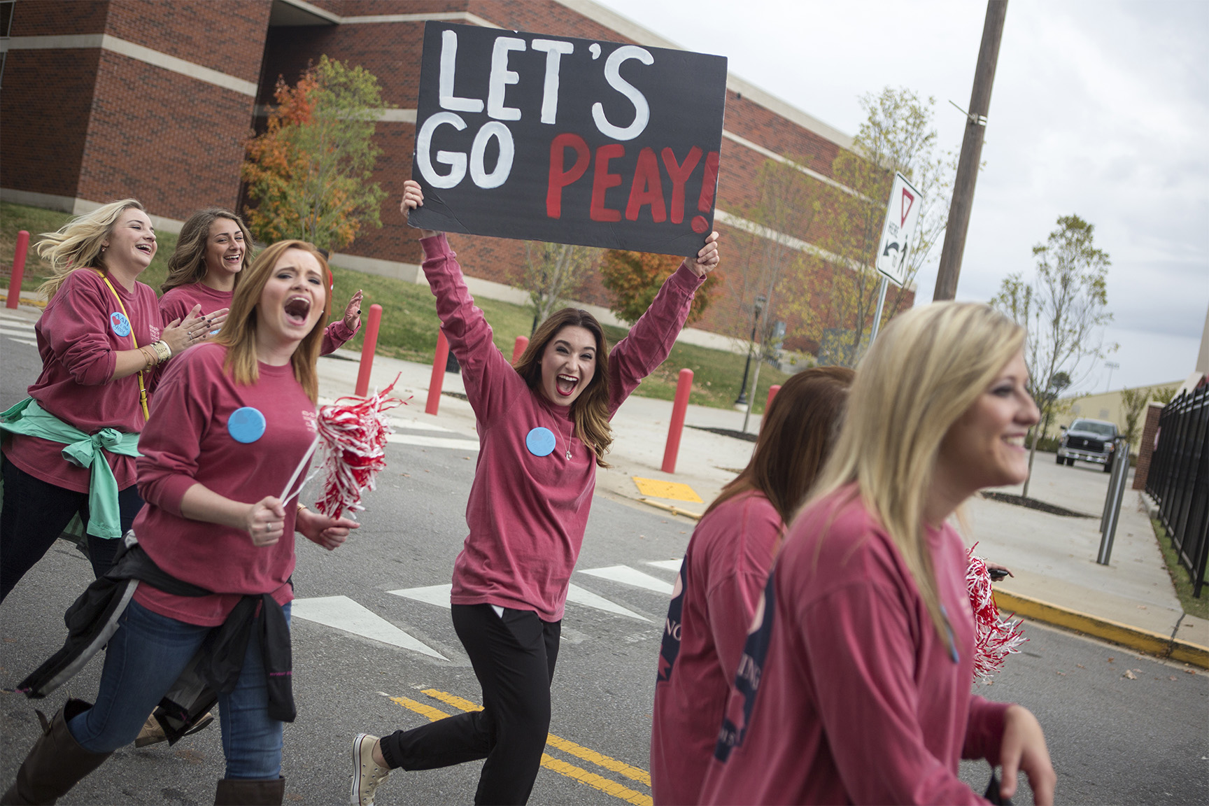 Sorority during the Homecoming parade
