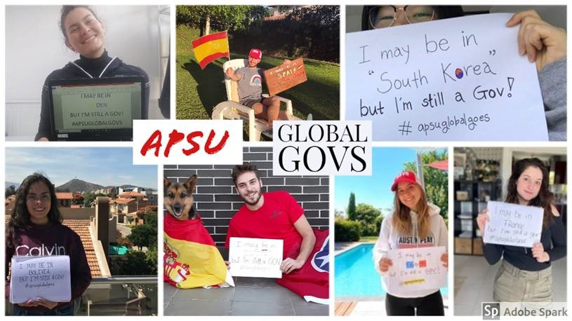 Exchange students from the 2019-2020 academic year show that they are still an APSU Gov while in their home country.